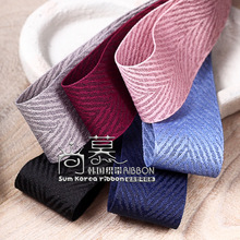 10yards/100yards polyester cotton twill ribbon korean for handcraft hair bow accessories garment clothing decoration