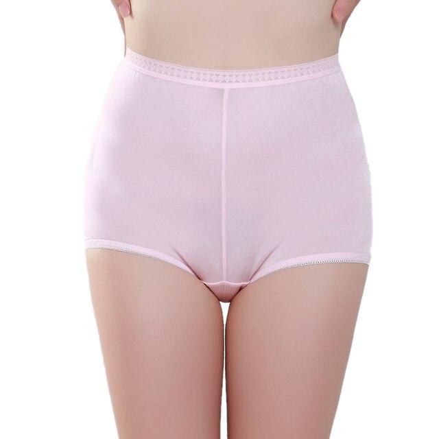 100% Чистого Шелка женские Трусики Женщины Бесшовные Сексуальные Кружева Средней высоты Femme Сплошной Розовый Трусы Boyshort Дамы Underwear женщина