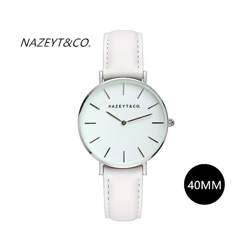 Top branded font b women b font fashion simple design white leather DW type quartz wristwatch