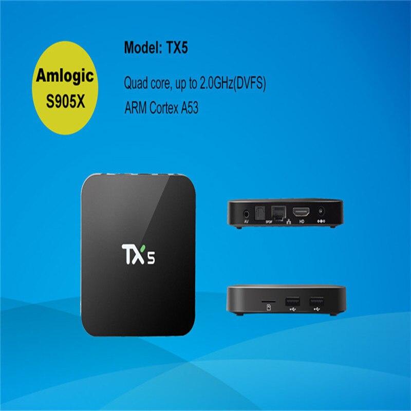 ФОТО New TX5 Android 6.0 TV box 2G/8G Amlogic S905X HD 4K Fully KODI 16.1 Quad core Media Player Set Top Box