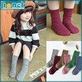 Navidad colores sólidos algodón para niños Calcetines adecuados para ajustada 1-10 años niñas niños calcetín cálido invierno niños Calcetines de colores Calcetines