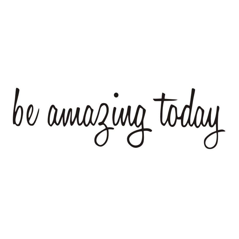 motivational quotes wall decals be amazing today mirror decals