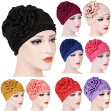 6fa53d78a040a (Ship from US) Women India Hat Muslim Ruffle Cancer Chemo Hat Beanie Scarf  Turban Head Wrap Cap hats for women female beret boina feminina