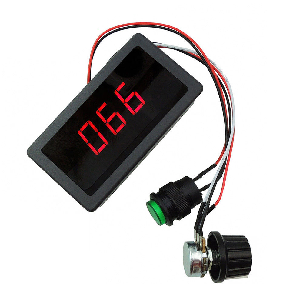 Cyfrowy wyświetlacz Led 6V 12V 24V PWM sterownik silnika dc regulator zmiennej prędkości