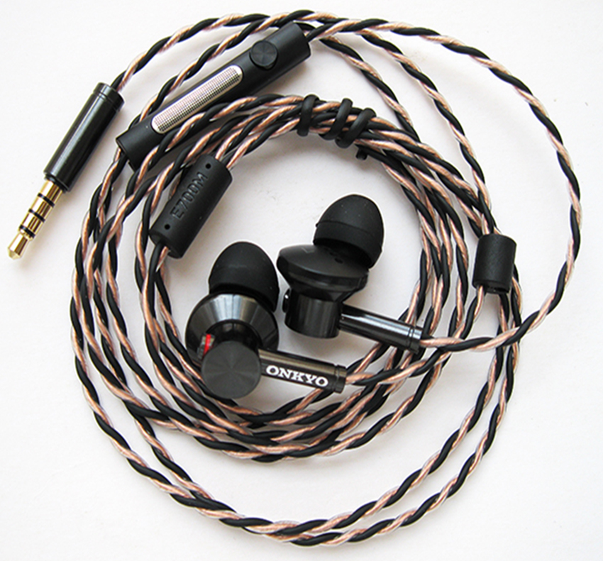 Original ONKYO E700M In-Ear Hi-Res Earphone Canal Type Hi-Res with Mic NO BOX Hifi earphones with mic for smartphones