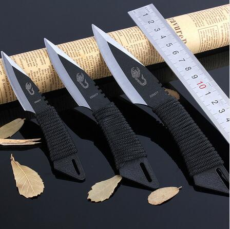 CS COLD 3pcs throw Tactical Fixed Blade knife Pocket Knife Survival Outdoor Hunting Camping Knives tools with Sheath high quality shootey hunter hunting knife 7cr17 blade survival fixed knives utility camping knife tools with tactical k sheath