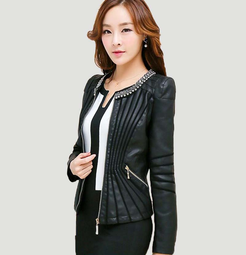 Popular Short Leather Coat-Buy Cheap Short Leather Coat lots from ...