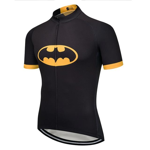 2018 batman Cycling team Clothing Bike jersey Quick Dry Mens Bicycle shirts  short sleeves pro Cycling Jerseys bike top Maillot 615dbd719
