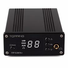 On sale TOPPING TP32EX+ Portable Digital HiFi Power AMP+PHA+DAC Hi-Res Headphone Amplifier Audio Preamplifier 75W*2 USB DAC Decoder