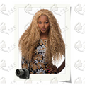 wigs for black women long blonde curly natural afro wig pelucas sinteticas high temperature fiber