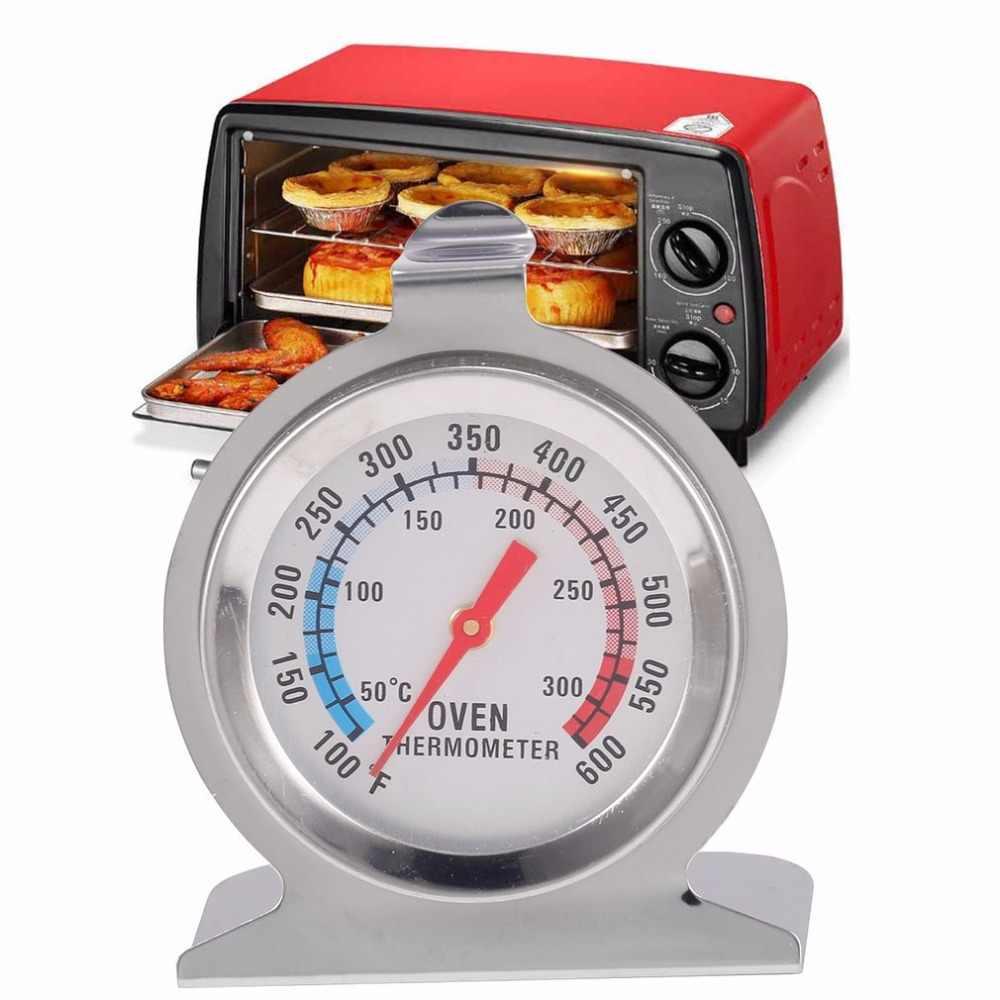 1 قطعة الفولاذ المقاوم للصدأ الغذاء اللحوم درجة الحرارة الكلاسيكية الوقوف الهاتفي ميزان حرارة فرن مقياس غيج طباخ ميزان الحرارة شعبية جديدة