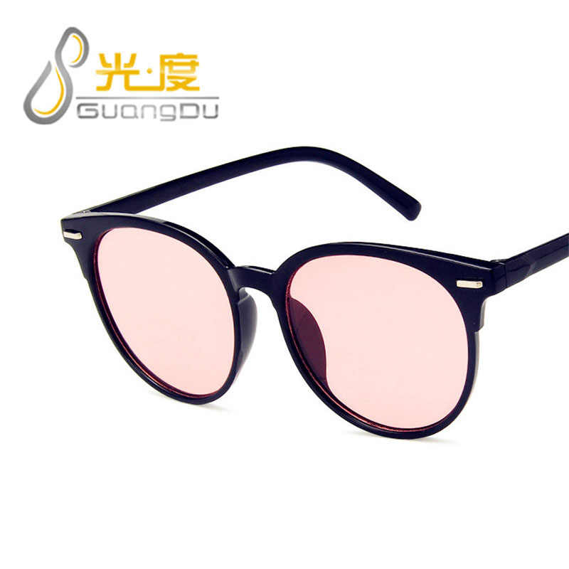 GUANGDU Cat Eye Oval Brand Designer Sunglasses Women Luxury Plastic Sunglasses Classic Retro Outdoor Glasses Oculos De Sol Gafas