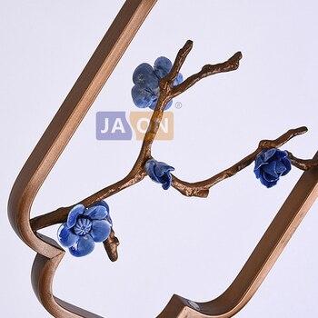 Светодиодный E27 Китайские железные ткань Керамика цветок светодиодный потолочный светильник светодиодный свет светодиодный Напольная Лам...