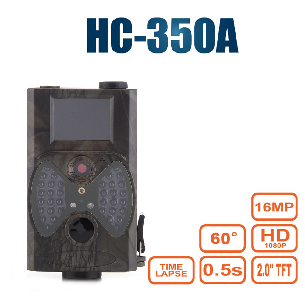 60 Degrees Game Trail Hunting Camera Hunter Night Vision HC 350A Camcorder Wildlife Forest Infrared Wild Trap Camera Gsm Mms skatolly hc300m digital scouting infrared hunting camera 12p video mms gprs gps night vision trap game wildlife hunter trail cam