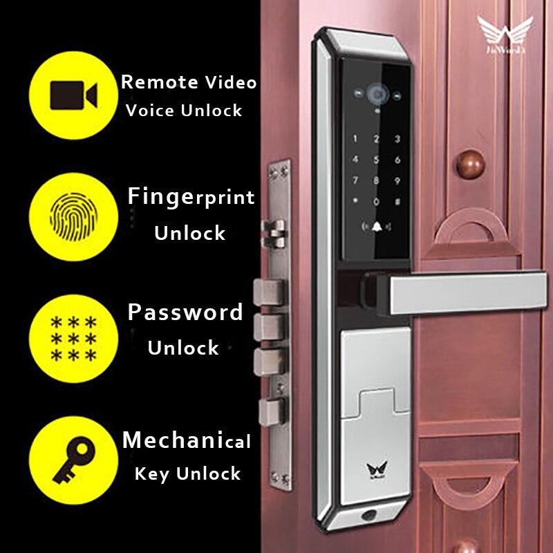 Camera WIFI Fingerprint lock,Best Remote Video Smart Door Lock Password