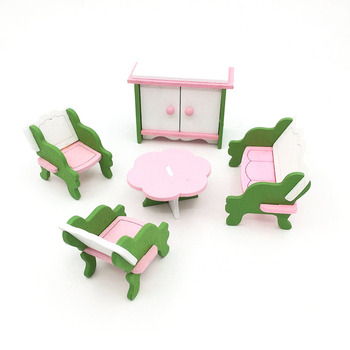 1:12 Dollhouse Miniature Furniture Wooden Creative Bathroom Bedroom Restaurant For Kids Action Figure Doll House Decoration Doll - 90555