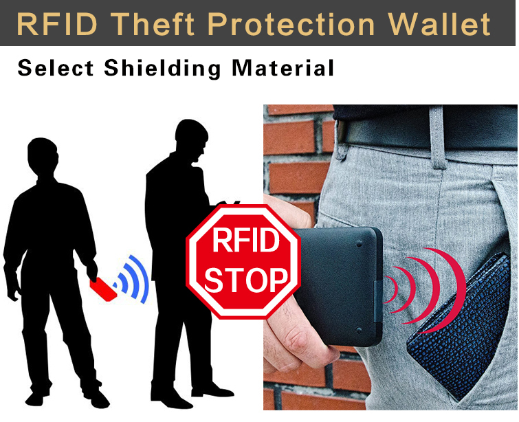 dc3ed9378 2018nuevo diseño de cartera de hombre RFID Theft Protect Coin Bag ...