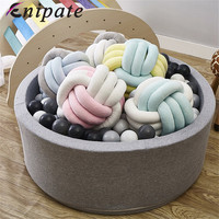 Enipate Candy Color Cushion Velvet Knotted Braided Cushion Ball Chunky Pillow Handmade Creative Brief Decor Pillow 25*25cm