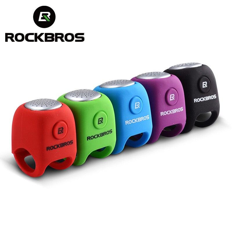 ROCKBROS los Eléctrico ciclismo campanas 110 dB cuerno impermeable MTB manillar de la bicicleta Bell carcasa de Gel de sílice anillo de Bell de la bicicleta accesorios