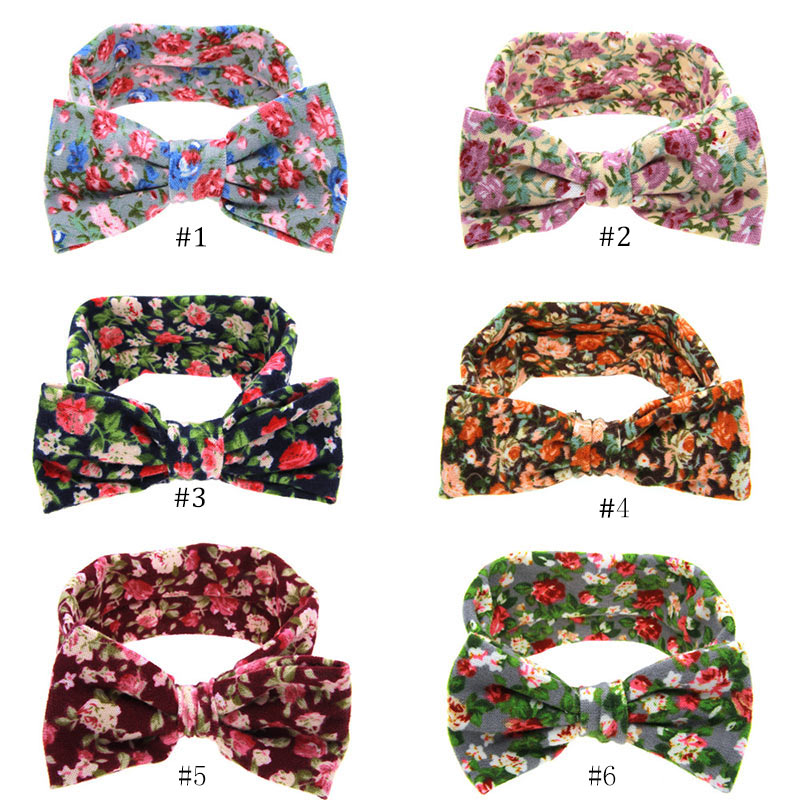 Baby font b Kids b font Girl Toddler Infant Flower Floral Hairband Turban Rabbit Bowknot Headwear