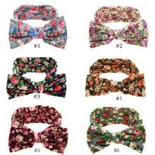 Bebê Crianças Da Menina Da Criança Infantil Flor Floral Hairband Turbante Coelho Bowknot Headwear Faixa de Cabelo Acessórios C505 @ M23