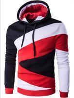 2017 Hooded Men Hip Hop Men S Hoodies Color Stitching Sweatshirts Men S Slim Slim Korean