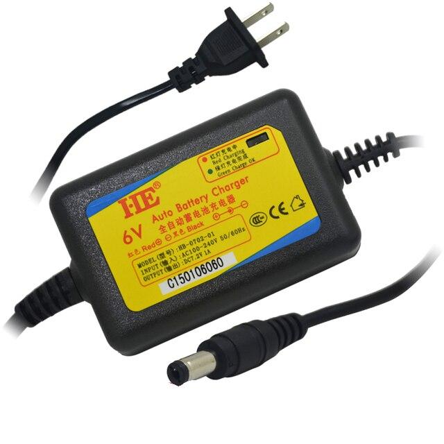 เขา DC7.2V 5.5 มิลลิเมตร 6 โวลต์ smart charger อะแดปเตอร์ชาร์จตะกั่วแบตเตอรี่ charger dc7.2v 1a สำหรับแบตเตอรี่ 6 โวลต์ 4ah 4.5ah 7ah 10ah 12ah