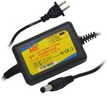 Умное зарядное устройство HE 5,5 в постоянного тока, мм, 6 в, перезаряжаемое свинцовое зарядное устройство для аккумуляторов постоянного тока в, 1 а для кислотных аккумуляторов 6 в, 4 ач, ач, 7 ач, 10 ач, 12 ач