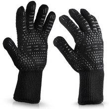 1/2 шт перчатки для барбекю 300-500цельсия экстремальные термостойкие Арамидные защитные перчатки гриль BBQ подкладка хлопок для кухни Инструменты для выпечки