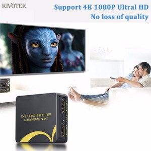 Image 3 - 4K x 2K MINI 1 Trong 2 Ra 1x2 HDMI 4K SPLITTER Adapter, nguồn USB Hỗ Trợ HDTV 3D, HD1080P Cho STB DVD HDTV Chiếc Miễn Phí Vận Chuyển