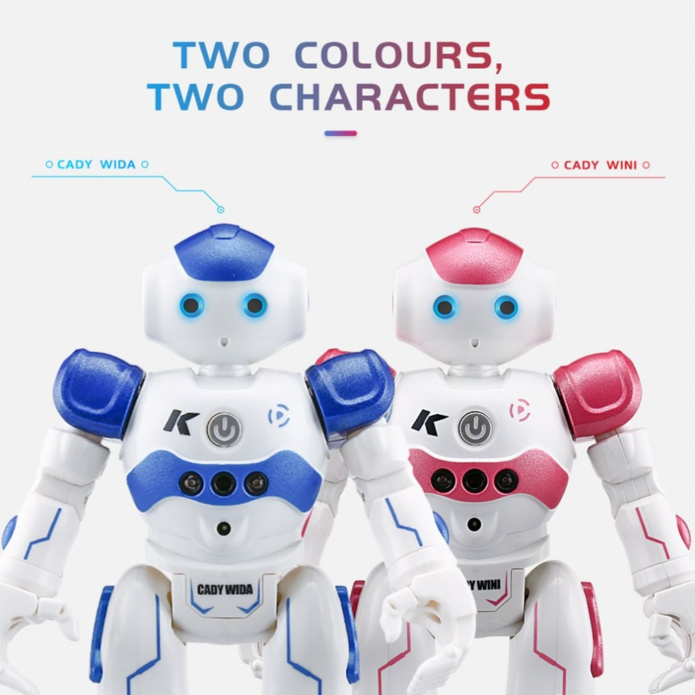 цена на JJR/C R2 Robot Toy Dancing Robot Intelligent Gesture Control RC Robot Toy Blue Pink for Children Kids Birthday Gift USB Charging