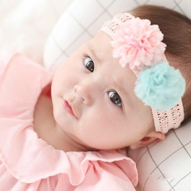 Cute Girls Turban Toddler Headwear Bow Pearl Lace Hair Band Baby Headband