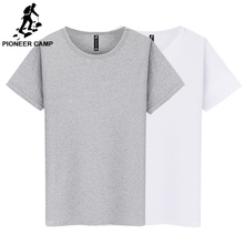 Pioneer Camp Pack of 2 promoting short sleeve t-shirt men brand clothing summer solid t shirt male casual Tees ZH209001