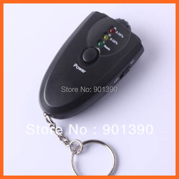 Free shipping,Accurate Breath Alcohol Tester Breathalyzer Flashlight led display alcohol tester mini keychain alcohol tester