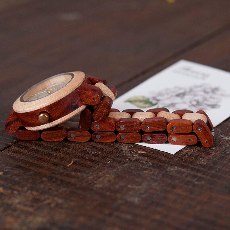BOBO KUŞ İki tonlu Timepieces Ahşap İzle Kadınlar için Marka - Kadın Saatler - Fotoğraf 6