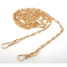 120cm torebka ze stali nierdzewnej DIY Hardware Chain Crossbody torby na ramię torby na pasek metalowe akcesoria torebkowe zapięcie kolor złoty srebrny tanie tanio foofum Łańcuch J2033-1 Chiny (kontynentalne) Gold Silver