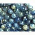 "Desconto Atacado Natural Genuine Azul Kyanite Rodada Pedra Solta Beads 3-18mm Jóias Fit DIY Colares ou Pulseiras 15 ""03657"