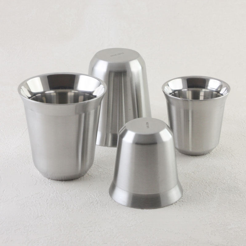 Double Wall Stainless Steel Espresso Coffee Mug Nespresso Nescafe Dolce Gusto Coffee Wine Alcohol Cup for Camping Travel
