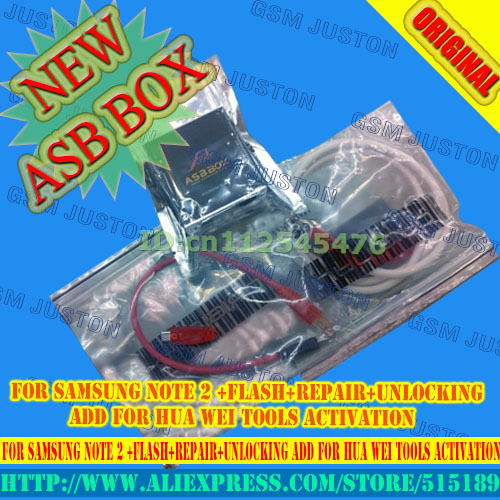 2017 Latest Asansam Box/asb Box With 2pcs Cables For Samsung Note 2 flash+repair+unlocking Add For Hua Wei Tools Activation Telecom Parts