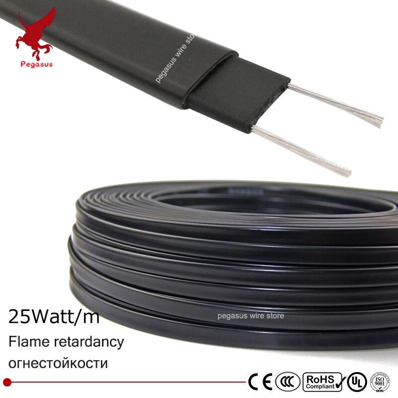10 M 220 V Typ Heizung Band Dach Enteisung Heizung Kabel Selbst Regulierung Wasser Rohr Schutz