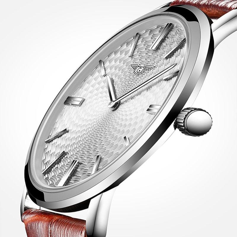 Prix pour Montre homme hommes montres top marque de luxe guanqin hommes ultra mince montre-bracelet en cuir quartz montre relogio masculino