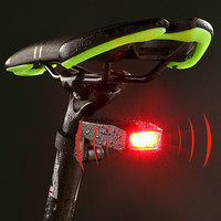 WHEEL UP New Design Rear Light Led Intelligent Alarm Bicycle Taillights Waterproof COB USB Rechargeable Smart Bicycle Rear Light