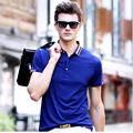 Men's polo shirt 2017 лето высокое качество Бизнес случайные хлопка polo мужчины марка твердые polo рубашка бренд одежды polo homme