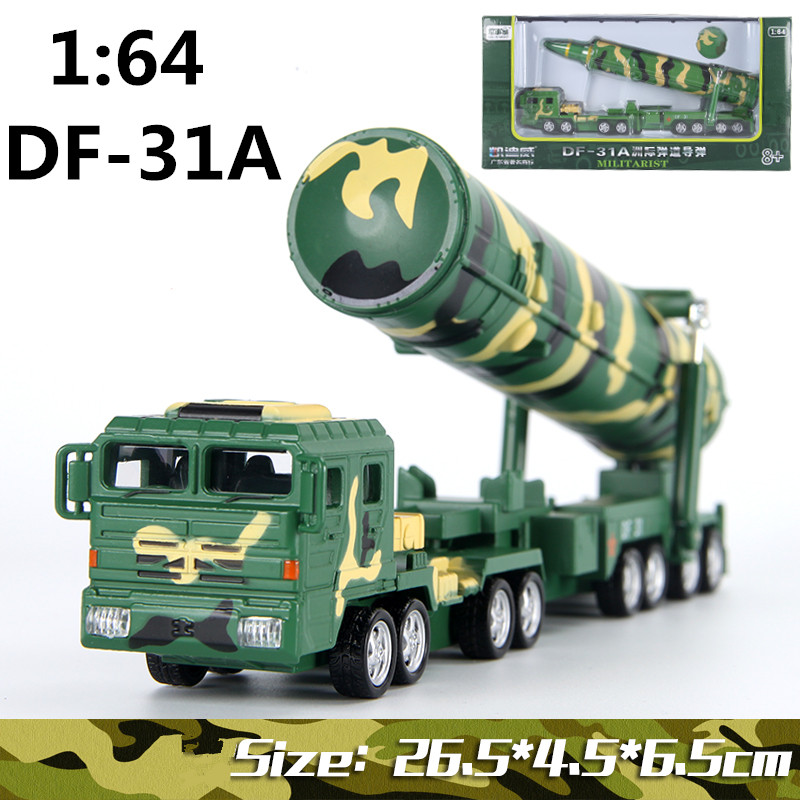 ФОТО Alloy military vehicles, weapons of war, 1:64 missile Dongfeng 31A,Diecast metal Alloy military model cars,free shiping
