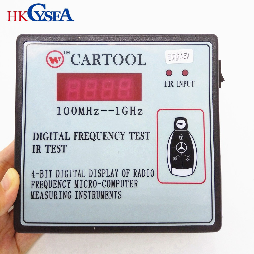 Frequency Measuring Tools : Hkcysea digital display of radio frequency ir test micro