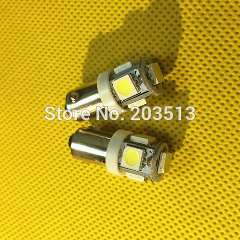 100pcs/lot in stock car led light G14 H6W BA9S 5 leds smd 5SMD 5050 auto led lamp free shipping