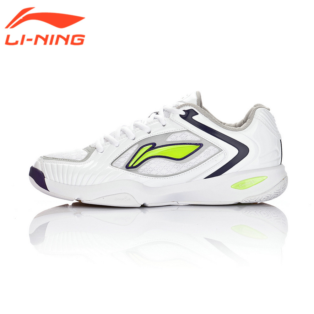 Li-Ning Genuine Thick Soled Badminton Shoes Bottom Breathable Tennis Sport Shock Absorbing Sneakers LiNing
