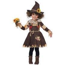 Il Mago di OZ Zucca Spaventapasseri Costume Cosplay Della Ragazza Dei Bambini di Halloween di Carnevale del Partito di Cosplay Incredibile Fancy Dress Up Vestito