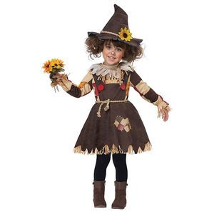 The Wizard of OZ Pumpkin Patch Scarecrow Costume Cosplay Girl Kids Halloween Carnival Cosplay Party Amazing Fancy Dress Up Suit(China)