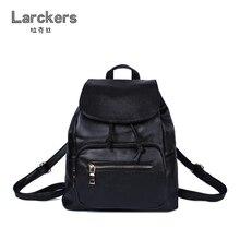 2017 весенние однотонные черные женские PU Рюкзак строка крышка Женская Повседневная сумка портативный softback мешок уличные девушки рюкзаки